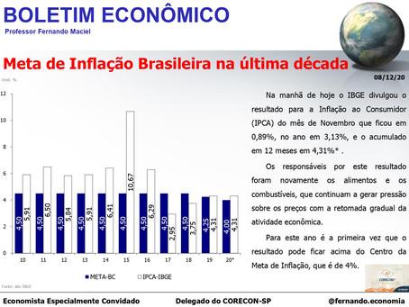 Boletim Econômico - Meta de Inflação Brasileira na última década, por Fernando Maciel