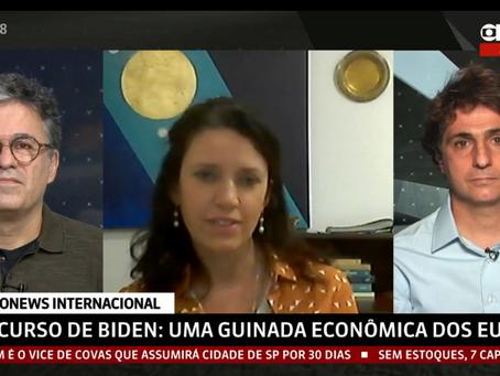 Conselheira Cristina Fróes concede entrevista à Globonews - 02/05/2021