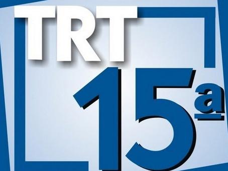 Processo seletivo on-line para estágio -TRIBUNAL REGIONAL DO TRABALHO DA 15º REGIÃO