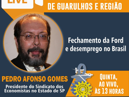 Live do vice-Presidente do Corecon-SP Pedro Afonso Gomes