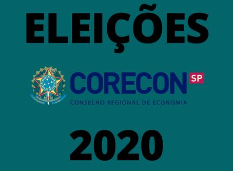 Comunicado – Processo eleitoral Corecon-SP 2020