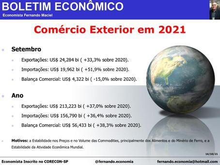 Boletim Econômico - Comércio Exterior em 2021, por Fernando Maciel.