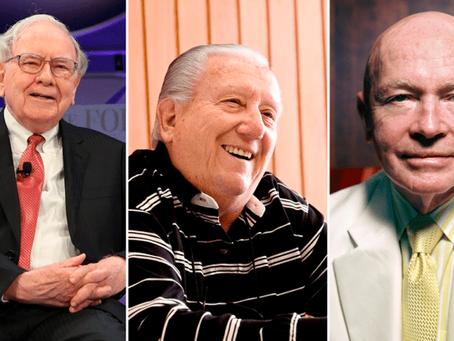 As lições por trás das trajetórias de Luiz Barsi, Mark Mobius e Warren Buffett, pela InfoMoney