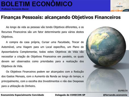 Boletim Econômico - Finanças Pessoais: alcançando Objetivos Financeiros, por Fernando Maciel