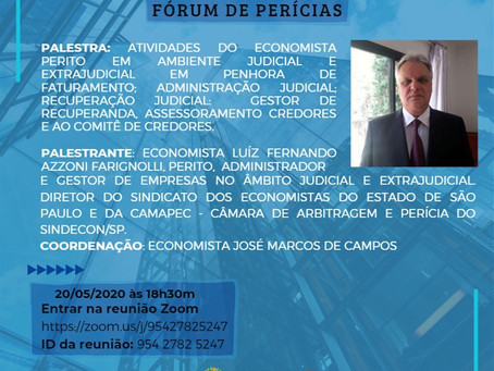 Fórum de Perícias do Corecon-SP, participe!