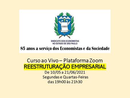 Curso Reestruturação Empresarial - 10/05 a 21/06/2021