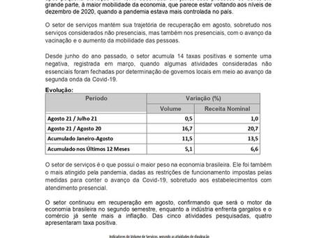 Nota Econômica Semanal - Serviços Permanecem em Elevação, por Calos Eduardo Jr