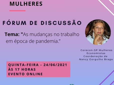 Live do Corecon - SP Mulheres - Fórum de Discussão