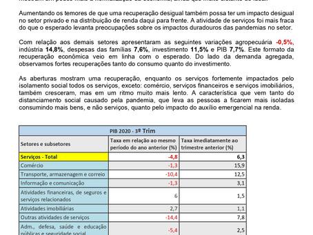 Nota Econômica Semanal: PIB de Serviços tem recuperação no 3º trimestre, por Carlos Eduardo Junior