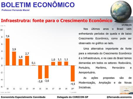 Boletim Econômico - Infraestrutra: fonte para o Crescimento Econômico, por Fernando Maciel