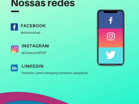 Atualização do facebook do Corecon-SP