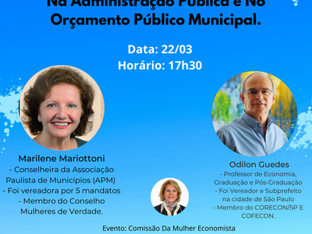 Live para Ressaltar o Papel da Mulher na Administração Pública e no Orçamento Público Municipal