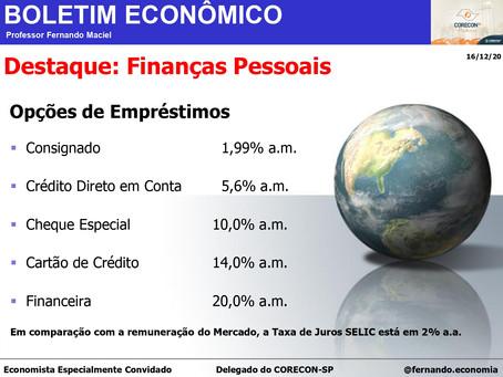 Boletim Econômico: Finanças Pessoais, por Professor Fernando Maciel