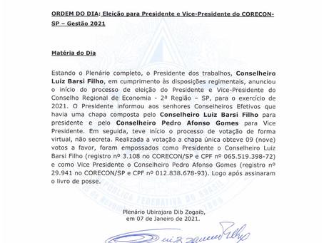 EXTRATO DA ATA 1486ª - POSSE DO PRESIDENTE LUIZ BARSI FILHO