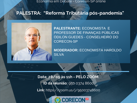 "Participe da Palestra online ""Reforma Tributária pós-pandemia"""