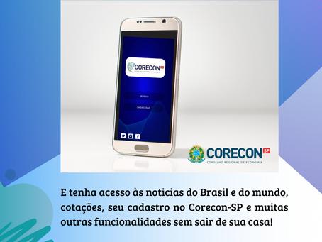 Experimente as funcionalidades do aplicativo do Corecon-SP