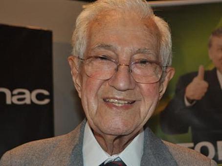 Nota de falecimento do economista ex-governador Laudo Natel(14/09/1920-18/05/2020)
