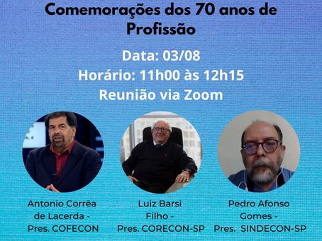 Live: Abertura do Mês e das Comemorações dos 70 anos de Profissão