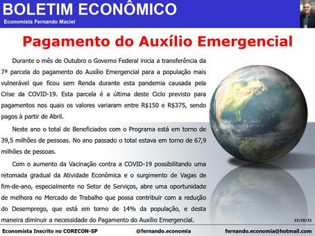 Boletim Econômico - Pagamento do Auxílio Emergencial, por Fernando Maciel