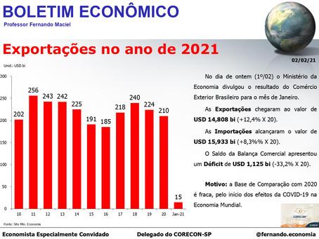 Boletim Econômico: Exportações no ano de 2021, por Fernando Maciel