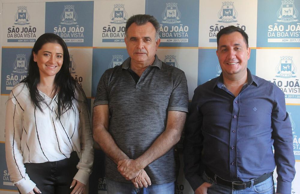 Vice-reitora da UNIFAE, Prefeito de São João da Boa Vista, e novo Reitor da UNIFAE