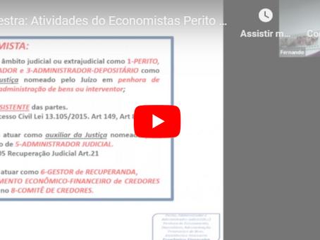 Palestra do Fórum de Perícias já está disponível no YouTube, confira!