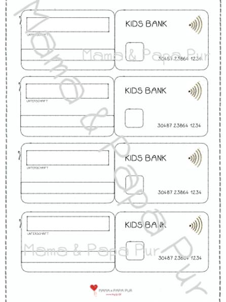 Bankkarten zum Selbstgestalten