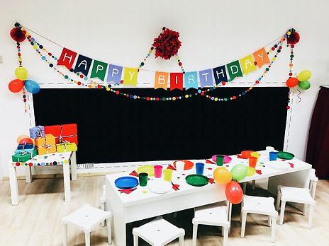 Kindergeburtstagsfeier - Partyraum im MuPP