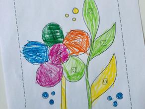 Frühlingsblumen: Würfelspiel & Ausmalbild