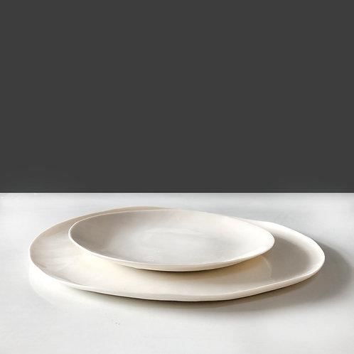 White set - two plates