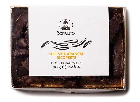 Bonajuto kanderade apelsinskal med choklad 70g