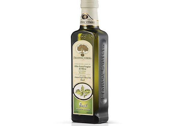 Frantoi Cutrera Extra jungfru olivolja med smak av basilika 250ml