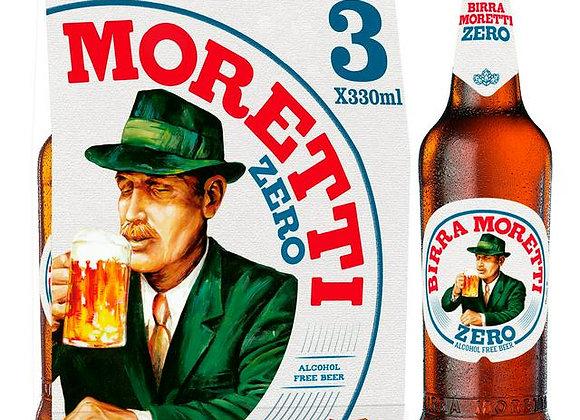 Moretti Zero alkoholfri öl 3x33cl