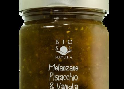 Biosol aubergine-, vanilj- och pistaschmarmelad 240g