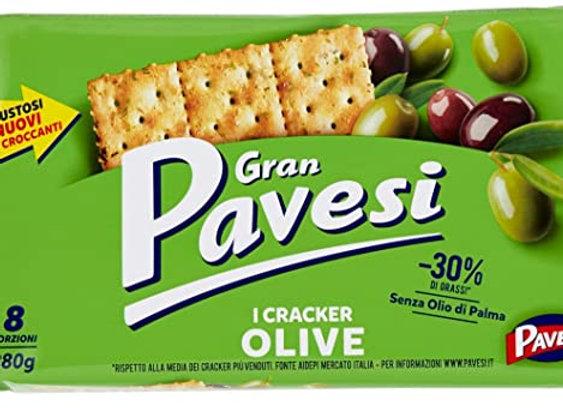 Gran Pavesi Crackers med olivsmak 280g