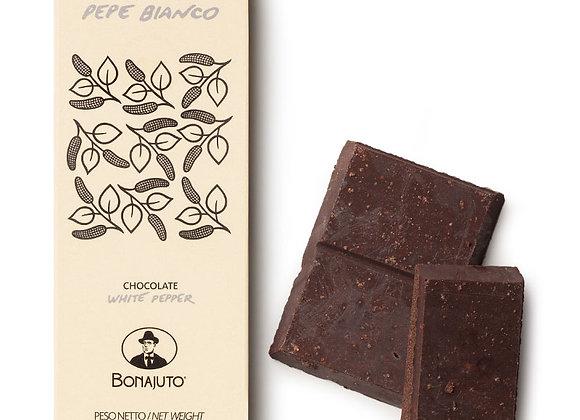 Bonajuto vitpeppar choklad 50gr