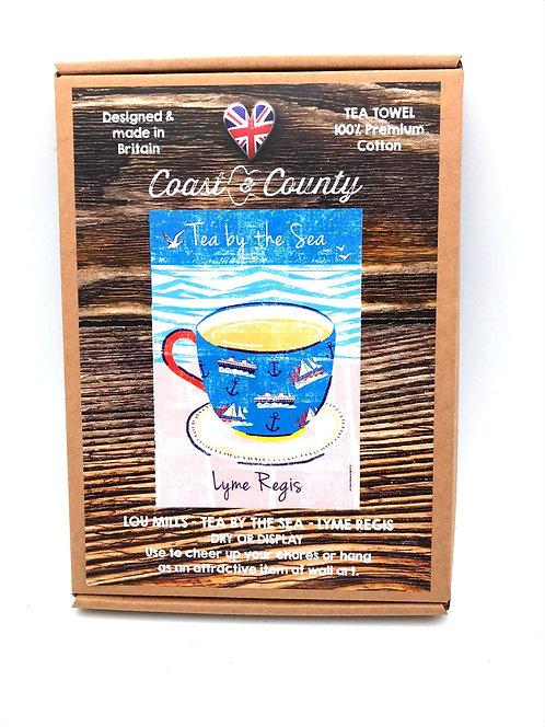 'Tea By The Sea' Tea Towel