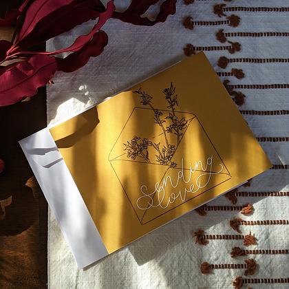 SENDING LOVE• Notecard