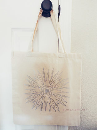 SUNFLOWER MANDALA | Cotton Tote Bag