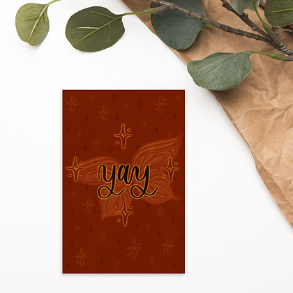 YAY BUTTERFLIES • Postcard
