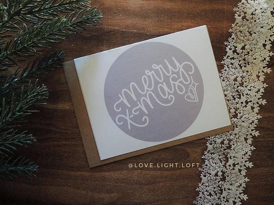 MERRY X-MAS! | Holiday Card