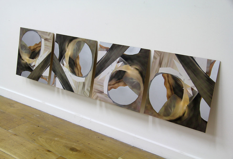 5, Kicking Out, Mixed Media, 50 x 230cm,