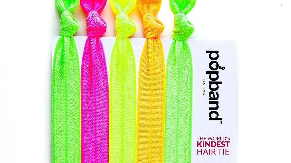 Popband Hair Ties 5 Pack - Glo