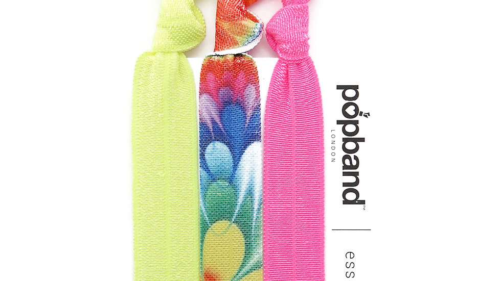 Popbands - Essential 3 pack Hair Ties - Woodstock