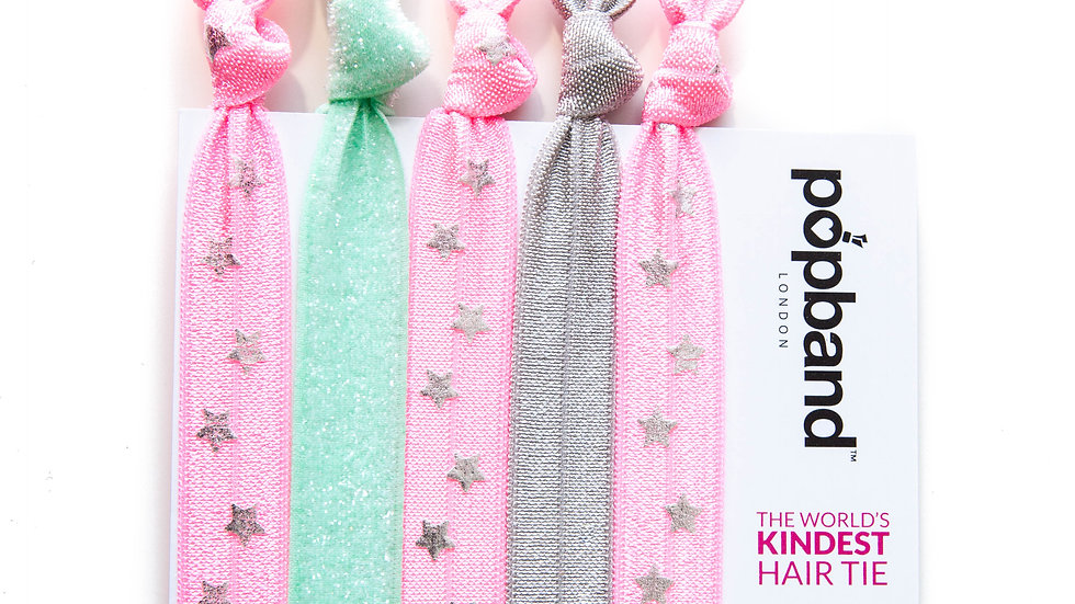 Popband Hair Tie 5 Pack- Candy
