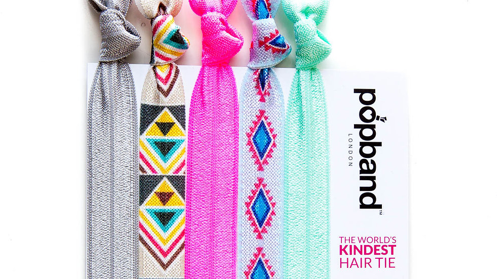 Popbands - 5 pack Hair Ties -Tribal