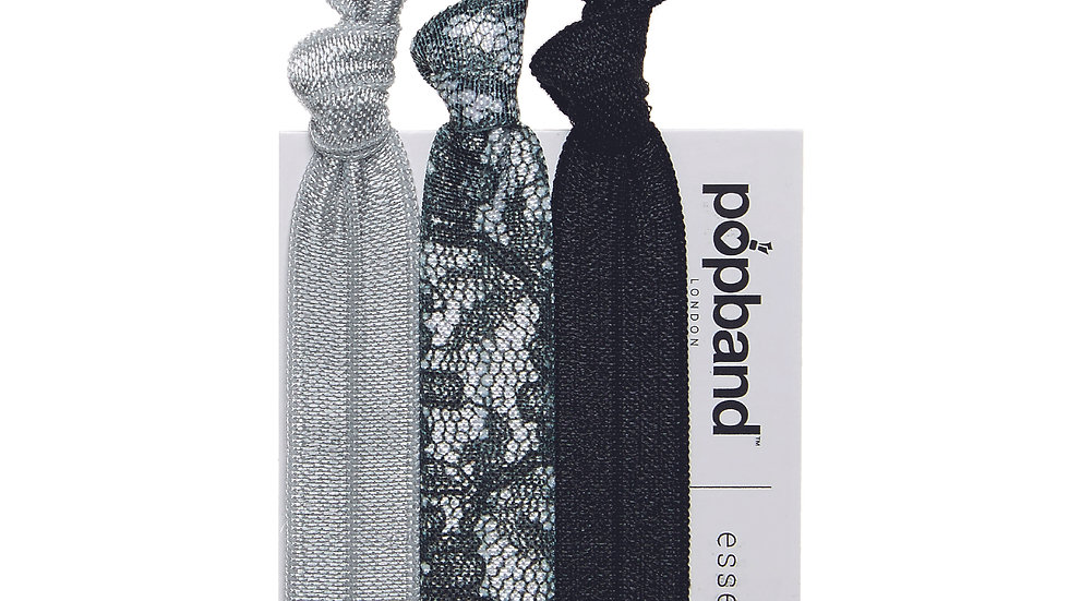Popbands 3 Pack - Silver Lace