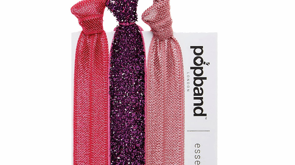 Popbands - Essential 3 pack Hair Ties - Pink