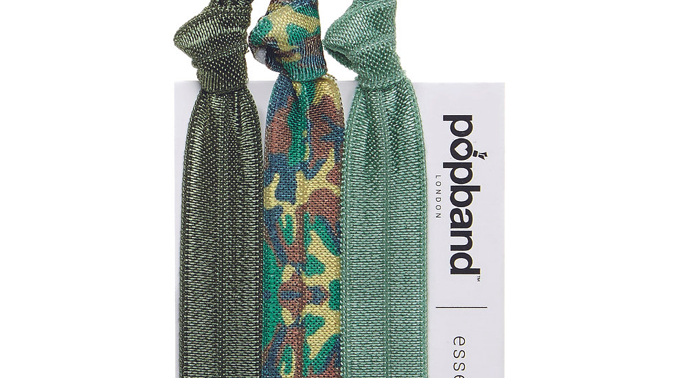 Popbands 3 Pack - Army Green