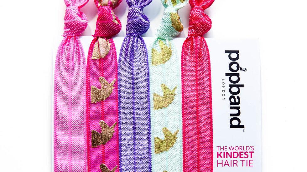Popbands - 5 pack Hair Ties -Unicorn